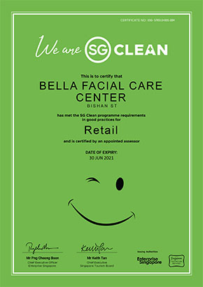 Our Bishan Street center is SG Clean certified!