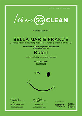 Our Jurong Point center is SG Clean certified!