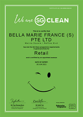 Our Marina Square center is SG Clean certified!