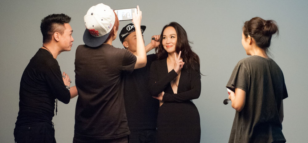 Fann Wong, Radiant during a photoshoot